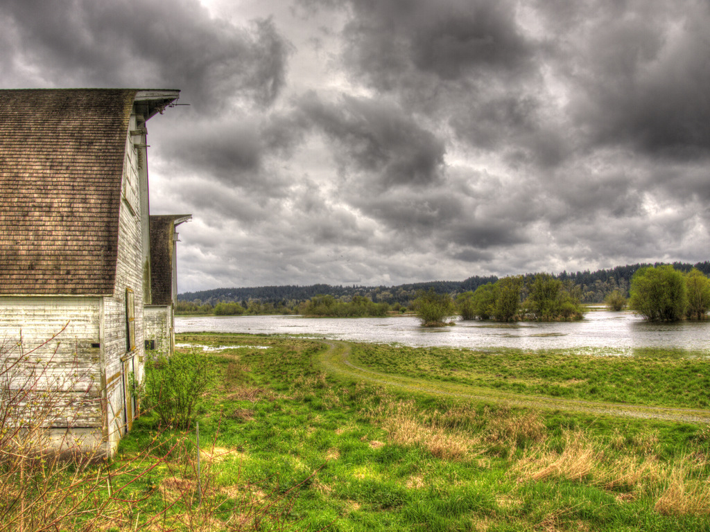 Nisqually Wildlife Refuge Barns 2