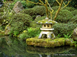 Peace on the water. Portland Japanese Garden, Portland, OR