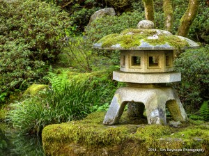 At one with Nature. Portland Japanese Garden, Portland, OR