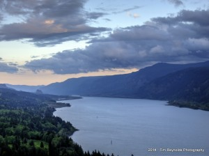 East down the Columbia River Gorge