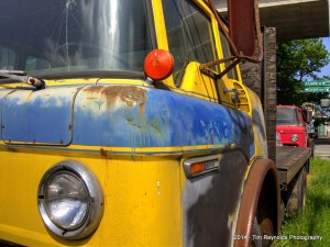 Blue and Yellow Ford