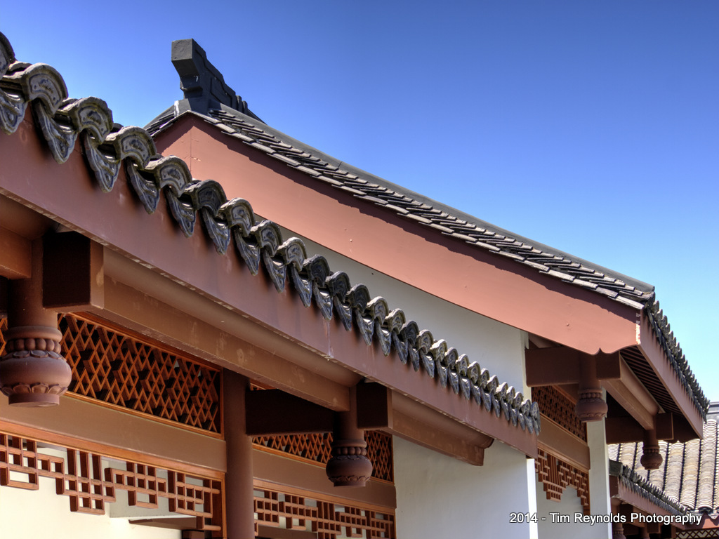 Seattle Chinese Gardens Roof detail