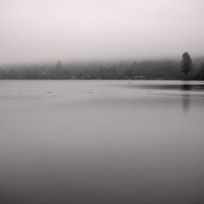 Black Lake in the fog